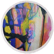 Abstract-3 Round Beach Towel