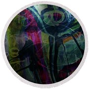 Abstract-30 Round Beach Towel