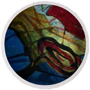 Abstract-31 Round Beach Towel