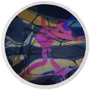 Abstract-33 Round Beach Towel