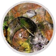 Abstract #330 Round Beach Towel