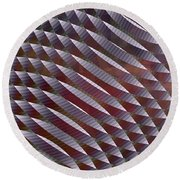 Abstract 33017-1 Round Beach Towel