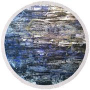 Abstract #334 Round Beach Towel