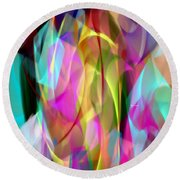 Round Beach Towel featuring the digital art Abstract 3366 by Rafael Salazar