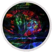 Abstract-34 Round Beach Towel