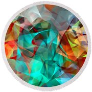 Round Beach Towel featuring the digital art Abstract 3540 by Rafael Salazar