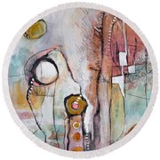 Abstract 39 Round Beach Towel