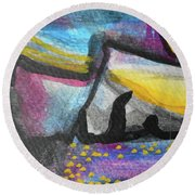 Abstract-4 Round Beach Towel