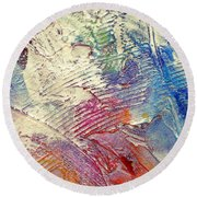 Round Beach Towel featuring the painting Abstract 5 by Tracy Bonin
