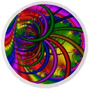 Abstract 523 Round Beach Towel