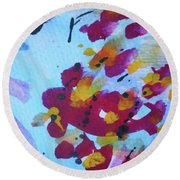 Abstract-6 Round Beach Towel