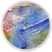Round Beach Towel featuring the painting Abstract 6 by Tracy Bonin