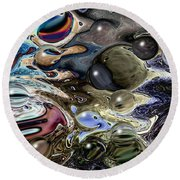 Abstract 623164 Round Beach Towel