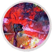 Round Beach Towel featuring the painting Abstract 6539 by Stephanie Moore