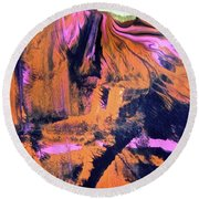 Abstract 6790 Round Beach Towel