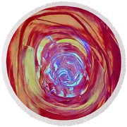 Abstract 6836 Round Beach Towel by Stephanie Moore