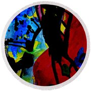 Abstract-7 Round Beach Towel