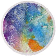 Round Beach Towel featuring the painting Abstract 7 by Tracy Bonin