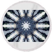 Abstract 728 Round Beach Towel