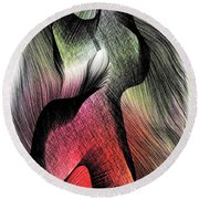 Round Beach Towel featuring the digital art Abstract 785 by Rafael Salazar
