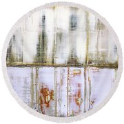 Art Print Abstract 79 Round Beach Towel