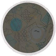 Abstract 8 Brown Round Beach Towel