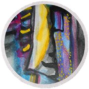 Abstract-8 Round Beach Towel