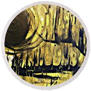 Abstract 8 Round Beach Towel
