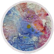 Round Beach Towel featuring the painting Abstract 8 by Tracy Bonin