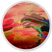 Abstract 8070 Round Beach Towel