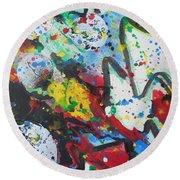 Abstract-9 Round Beach Towel