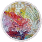 Round Beach Towel featuring the painting Abstract 9 by Tracy Bonin