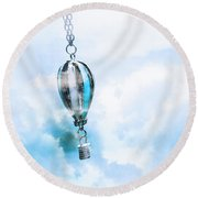 Abstract Air Baloon Hanging On Chain Round Beach Towel