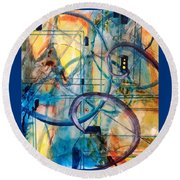 Abstract Appeal Round Beach Towel