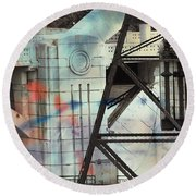 Abstract Architecture Round Beach Towel by Susan Stone