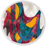 Abstract Art 101 Round Beach Towel
