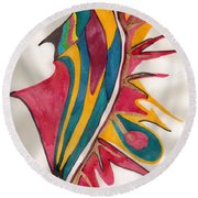 Abstract Art 102 Round Beach Towel