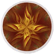 Abstract Art - The Harmony Of A Precious Soul By Rgiada Round Beach Towel