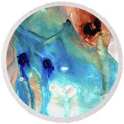 Abstract Art - The Journey Home - Sharon Cummings Round Beach Towel by Sharon Cummings