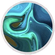 Abstract Art Union Vertical Format Round Beach Towel