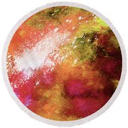 Abstract Artwork Spa Bath Of Nature Round Beach Towel