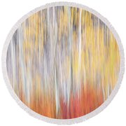 Abstract Autumn Round Beach Towel