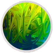 Abstract Blend 32 Round Beach Towel