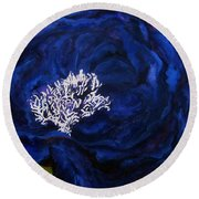 Abstract Blue Round Beach Towel