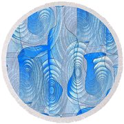 Abstract Bottles Round Beach Towel