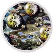 Abstract Bubbles 7616.1e Round Beach Towel