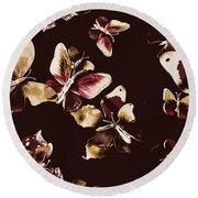 Abstract Butterfly Fine Art Round Beach Towel