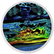 Abstract Carriage Ride Round Beach Towel