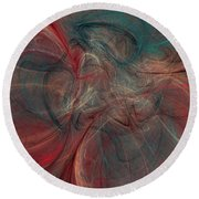 Abstract Chaotica 10 Round Beach Towel