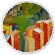 Abstract Cityscape Project Series II Round Beach Towel